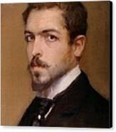 Fabbri Paolo Egisto, Self-portrait Canvas Print by Everett