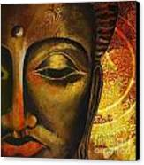 Face Of Buddha  Canvas Print by Corporate Art Task Force