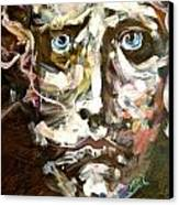 Face Series 3 Canvas Print by Michelle Dommer
