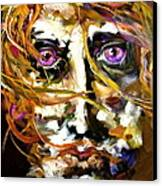 Face Series 4 Knowing Canvas Print by Michelle Dommer