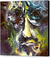 Face Series 5 The Other Side Canvas Print by Michelle Dommer