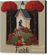 Faith Country Church Canvas Print by Catherine Holman