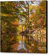 Fall At Valley Creek  Canvas Print by Rima Biswas
