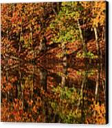 Fall Reflections Canvas Print by Karol Livote