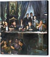 Fallen Last Supper Bad Guys Canvas Print by Ylli Haruni