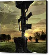 Fallen Soldiers Memorial Canvas Print by September  Stone