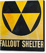 Fallout Shelter Canvas Print by Olivier Le Queinec