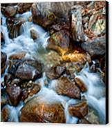 Falls And Rocks Canvas Print by Cat Connor