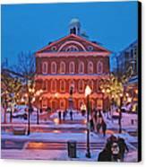 Faneuil Hall Holiday- Boston Canvas Print by Joann Vitali