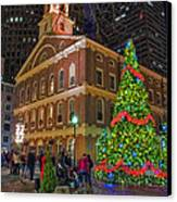 Faneuil Hall Night Canvas Print by Joann Vitali