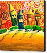 Fantasy Art - The Village Festival Canvas Print by Nirdesha Munasinghe