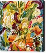 Fantasy Floral 1 Canvas Print by Carole Goldman