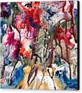 Fantasy Floral 2 Canvas Print by Carole Goldman