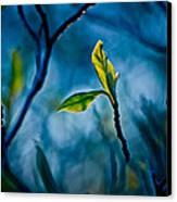 Fantasy In Blue Canvas Print by Linda Unger