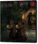 Fantasy - Into The Night Canvas Print by Mike Savad