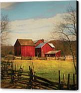 Farm - Barn - Just Up The Path Canvas Print by Mike Savad