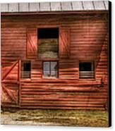 Farm - Barn - Visiting The Farm Canvas Print by Mike Savad