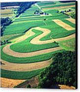 Farm Designs Pennsylvania Aerial Canvas Print by Blair Seitz