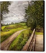 Farm - Landscape - Jersey Crops Canvas Print by Mike Savad