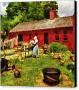 Farm - Laundry - Old School Laundry Canvas Print by Mike Savad
