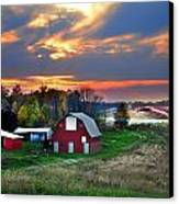 Farmstead At Sunset Canvas Print by Julie Dant