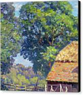 Farmyard With Poultry Canvas Print by Gabriel Edouard Thurner