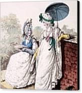Fashion Plate Of Ladies Morning Dress Canvas Print by English School