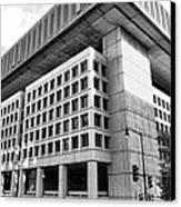 Fbi Building Rear View Canvas Print by Olivier Le Queinec
