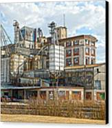 Feed Mill Hdr Canvas Print by Charles Beeler