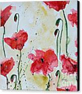 Feel The Summer 1 - Poppies Canvas Print by Ismeta Gruenwald