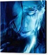 Feeling A Little Blue Canvas Print by Gun Legler