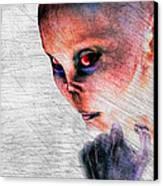 Female Alien Portrait Canvas Print by Bob Orsillo