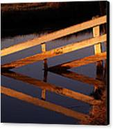Fenced Reflection Canvas Print by Bill Gallagher