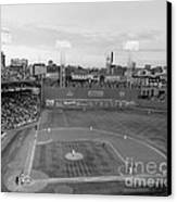 Fenway Park Photo - Black And White Canvas Print by Horsch Gallery