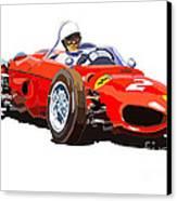 Ferrari Dino 156 1962  Canvas Print by Yuriy  Shevchuk