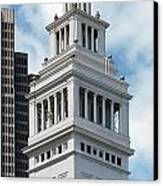 Ferry Building Clock Tower Canvas Print by Jo Ann Snover