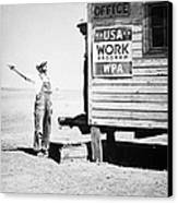 Field Office Of The Wpa Government Agency Canvas Print by American Photographer