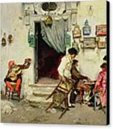 Figaro's Shop Canvas Print by Jose Jimenes Aranda