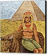 Figure Symbolizing Egyptian Canvas Print by Getty Research Institute