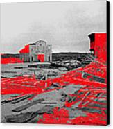 Film Homage High Plain Drifter 1973 Monte Walsh Set Windstorm Mescal Arizona 1969-2012 Canvas Print by David Lee Guss