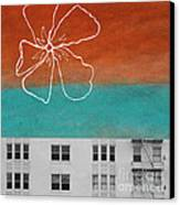 Fire Escapes Canvas Print by Linda Woods