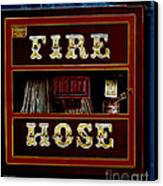 Fire Hose Canvas Print by Cheryl Young