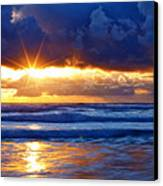 Fire On The Horizon Canvas Print by Darren  White
