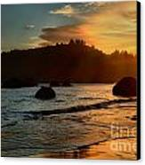 Fire Over Trinidad Beach Canvas Print by Adam Jewell