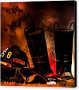 Firefighter Canvas Print by Bob Orsillo