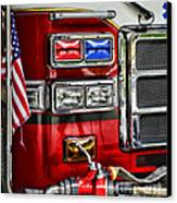 Fireman - Fire Engine Canvas Print by Paul Ward