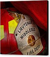Fireman - Hat - Everyone Loves Red Canvas Print by Mike Savad