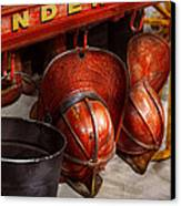 Fireman - Hats - I Volunteered For This  Canvas Print by Mike Savad