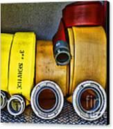 Fireman - The Fire Hose Canvas Print by Paul Ward