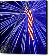 Fireworks At Iwo Jima Memorial Canvas Print by Francesa Miller